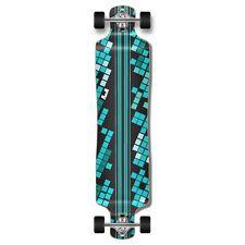 Black Digital Wave Lowrider Drop down through Longboard Complete skateboard