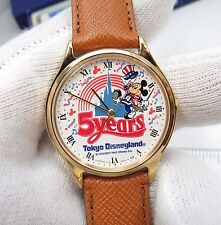 """MICKY MOUSE,Seiko Y131-6310 """"Tokyo 5yr Disneyland"""",MIB,CHARACTER WATCH, R18-30"""