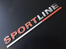 RED SPORTLINE CHROME EDGE BADGE VW T4 T5 TRANSPORTER CARAVELLE REAR TAILGATE