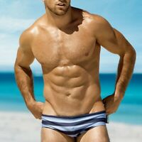 Men's Sexy Bikini Swim Briefs Strip Suirf Beach Swimwear Man Swimming Trunks 433