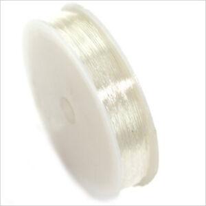 Fil Cordon Elastique de Nylon 0,8mm – 8 Mètres Transparent pour création de b...