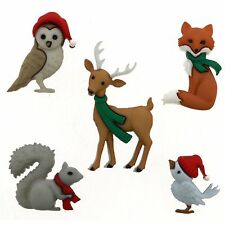 Jesse James Buttons - Dress It Up - WOODLAND HOLIDAY 9500 Forest Animals Craft