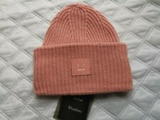 Acne Studios Wool Beanie Hat 'Pink' Blush Pink One Size New