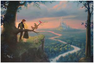 Disney Fine Art Limited Edition Canvas Our Royal Kingdom-Cinderella- Rob Kaz