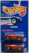 HOT WHEELS 1991 BLUE CARD CAMARO #262 INTERIOR VARIATION W+