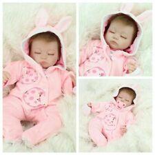 Handmade Vinyl Silicone Reborn Baby Dolls Realistic Sleeping Newborn Girl Doll