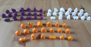 Carcassonne - 19 Wooden Meeples Complete Set | Accessory | New
