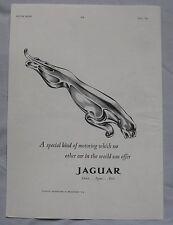 1961 Jaguar Original advert No.1