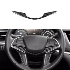 For Cadillac XT5 CT6 2016 2017 Carbon Fiber Interior Steering Wheel Panel Cover