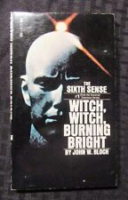 1972 WITCH WITCH BURNING BRIGHT John Bloch VF- 1st Tempo Paperback Sixth Sense