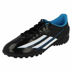 Adidas F32772 Boys Black/White Lace Up Football Boots (R7A)