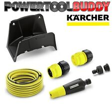 Karcher Wall Mounted Compact Garden Hose Kit 15m Hose Watering Equipment kit