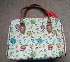 Signare tapestry travel bag tapestry owl print oversized handbag overnight bag