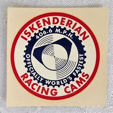ISKY ISKENDERIAN WORLD'S FASTEST RACING CAMS ORIGINAL 60's WATER SLIDE DECAL