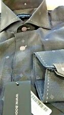 NWT Bogosse men's size 5 or XL long sleeve button down shirt,jacquard diamond