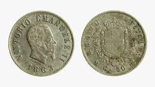pcc2137_29) Vittorio Emanuele II (1861-1878) 50 Centesimi Stemma 1863 Mi TONED