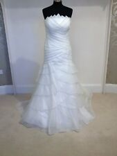 Pronovias Fortuna wedding dress / bridal gown in off white, size 14