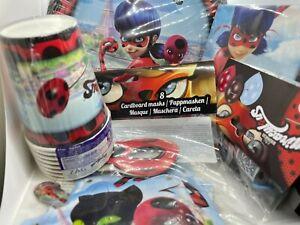51tlg. Vorteil-Set Ladybug Miraculous Children Birthday Party Decor Plate Mug