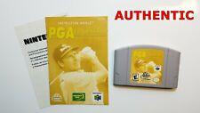 PGA European Tour Nintendo 64 N64 Game + Manual ONLY AUTHENTIC RARE VGC