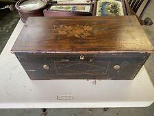 Rare Antique Hidden Drum And 8 Bell Cylinder Music Box