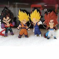 Dragon Ball Z Cell Son Goku Vegeta Keychain Super Saiyan 5pcs Set PVC Keyring Go
