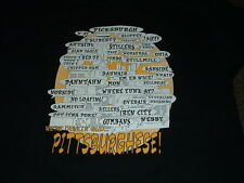 PITTSBURGH, PA PITTSBURGHESE BLACK SHORT SLEEVED T-SHIRT X-LARGE NEW