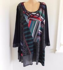 Viscose Geometric Regular Size Dresses Tunic/Smock Dress