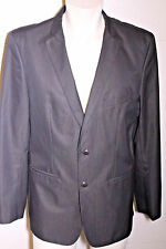 ZARA Slim Fit Charcoal Black Blazer Sport Coat Jacket w Side Vents Sz XL 46