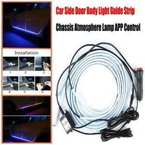 Auto RGB LED Car Door Body Light Guide Strip Chassis Atmosphere Lamp Practical