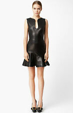 ALEXANDER MCQUEEN BLACK LEATHER DRESS IT 42 UK 10