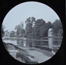c1890s Magic Lantern Slide Photo View On The River Thames Garrick Villa
