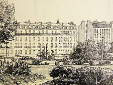Joseph LE PAN DE LIGNY (1868-1908) Vue de Paris élegante tour Eiffel France