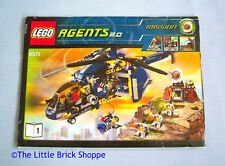 Lego Agents 2.0 8971 Aerial Defense Unit-Instruction Book 1 Seulement-Pas de lego