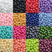 Lots 20-100Pcs Czech Glass Pearl Round Loose Spacer Beads Findings 4/6/8/10/12MM