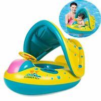 Baby Swimming Inflatable Float Seat Toddler Kid Water Pool Aid Toys Sunshade UK