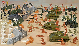 """WWII Battle of the Bulge Playset #3 - """"Patton's Charge"""" - 54mm Plastic Soldiers"""