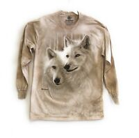 The Mountain Adult Sunlit Soulmates Wolves Long Sleeves T-Shirt M-L-XL-2XL-3XL.