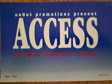Acess Unkut promotions 4.4.96 @ the holly rooms reading (rave/Club flyer)