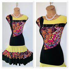 JOSEPH RIBKOFF Colourful Embellished Floral Floaty Jersey Dress Uk Size 16