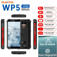 "5.5"" OUKITEL WP5 4G LTE Rugged Android 9.0 Smartphone Waterproof Phone Dual SIM"