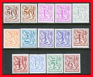Belgium Postage Stamps Scott 967-976, 14-Stamp Mint Partial Set!! B1279