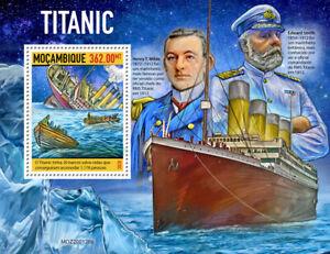 Mozambique Ships Stamps 2020 MNH Titanic Edward Smith Boats Nautical 1v S/S