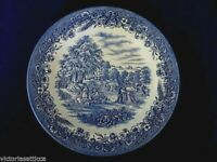 Collectible CHURCHILL Cobalt Blue & White Farm Scenic Plate - Made in England