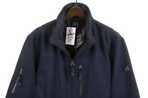 Tumi Tech Blue Poly Cotton Outer Insulated Quilt Lined Full Zip Jacket XL