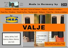 Lackstift für IKEA VALJE weiß