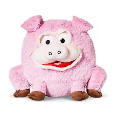 "Pig Play Face Pal Round Plush Throw Pillow (13.3""x11"") Pink - Jay@Play NEW"