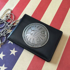 Agents of shield S.H.I.E.L.D. Metal SHIELD Badge Pin & ID Holder Wallet