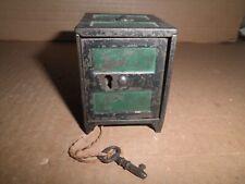 New ListingWonderful old original cast iron Columbia Safe key lock safe still bank c.1897