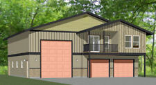 44x48 Apartment with 2-Car 1-RV Garage - PDF FloorPlan - 1,645 sqft - Model 1I