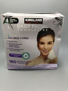 Kirkland Makeup Remover Eye Face Towelette Paraben-Free Hypoallergenic 180 Wipes